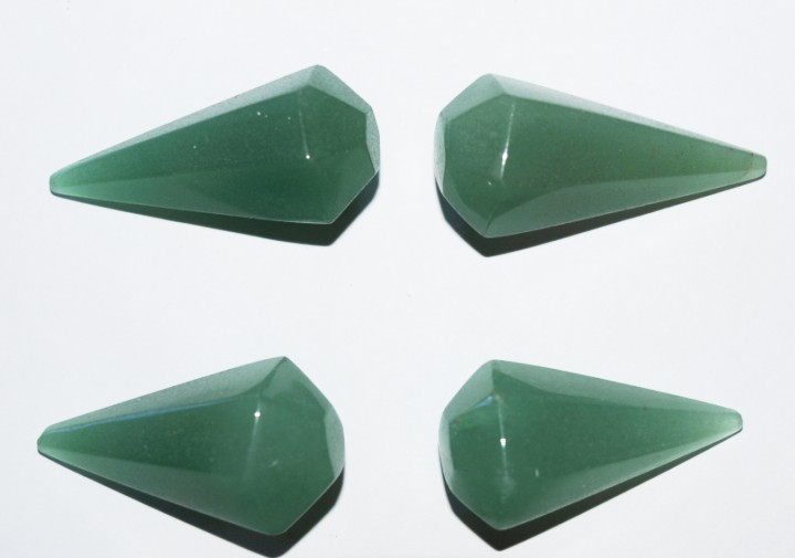 Stones from Uruguay -  Feceted Green Aventurine Dowsing Pendulum