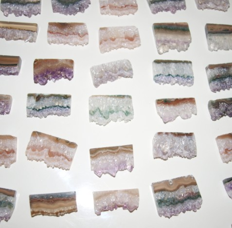 Stones from Uruguay - Amethyst Rectangular Slices (30mm)