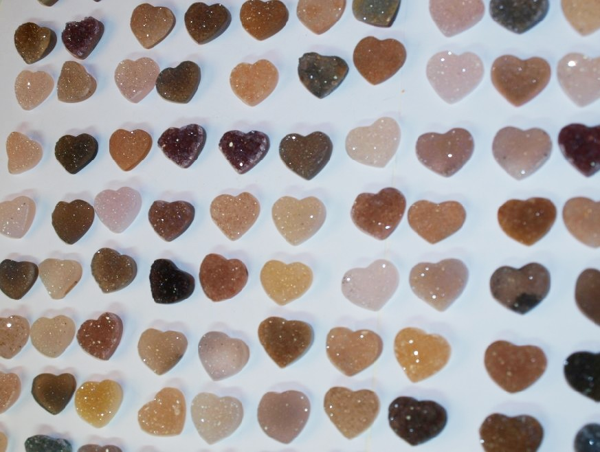 Stones from Uruguay - Druzy Heart (25mm)