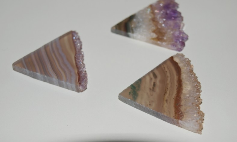 Stones from Uruguay - Amethyst Triangle Slices