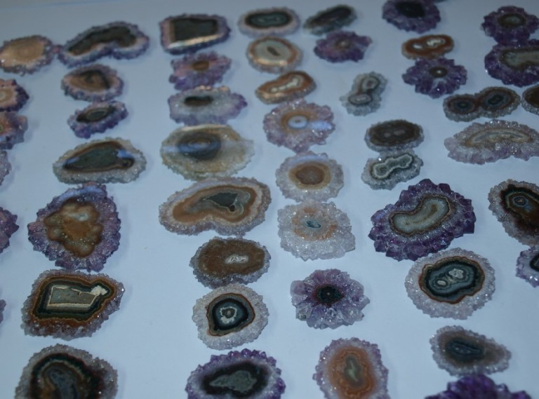 Stones from Uruguay - AMETHYST STALACTITE SLICES FOR JEWELRIES(26-50MM)