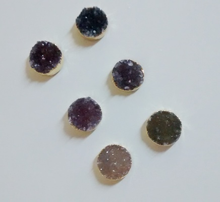 Stones from Uruguay - Round Druzy without Loop for Jewelries (10mm)