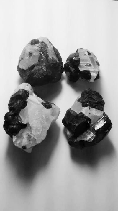 Stones from Uruguay - Black Tourmaline on Quartz Matrix