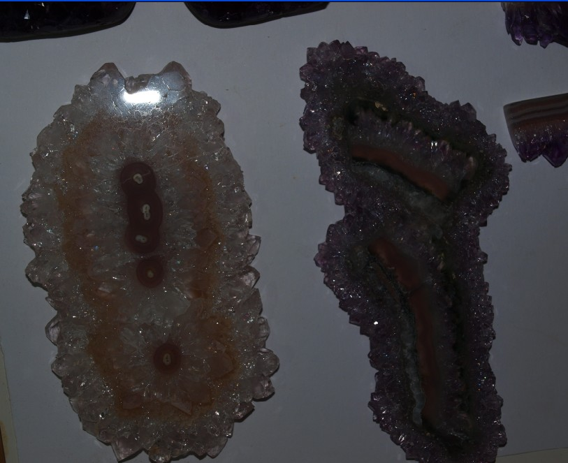 Stones from Uruguay - Amethyst stalactite slices