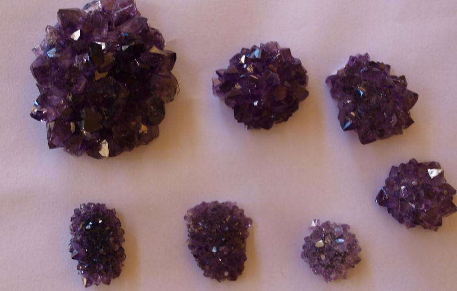 Stones from Uruguay - Amethyst Roses for Pendants