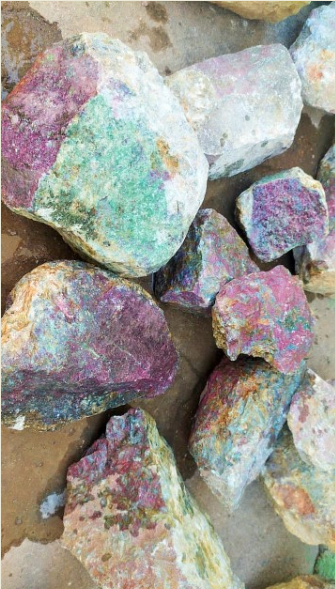 Stones from Uruguay - Rough Ruby Zoisite - Raw Ruby Zoisite - Rough Ruby Corundum - Raw Ruby Corundum
