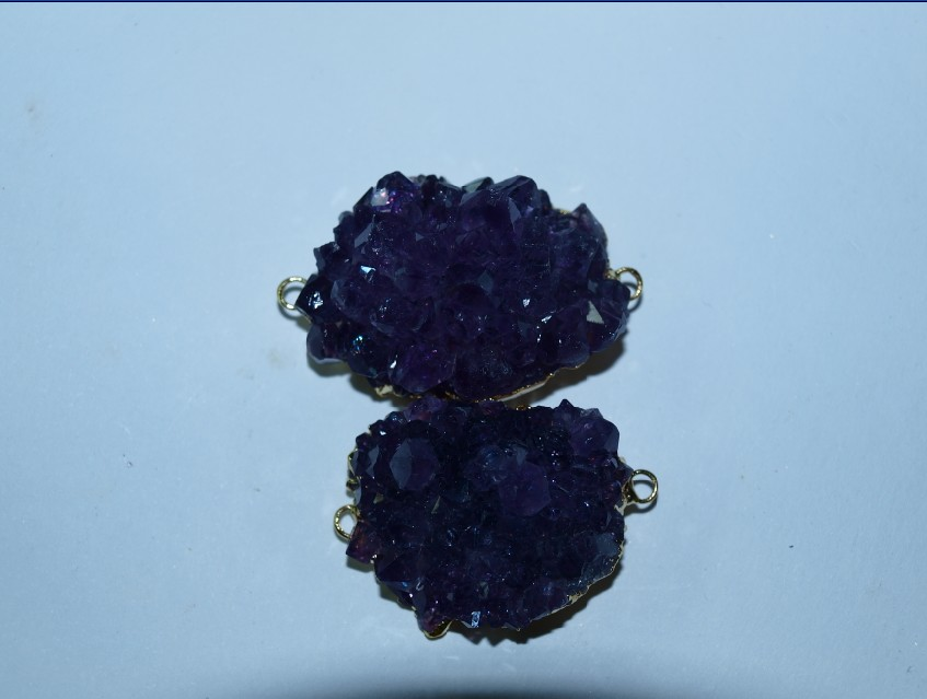 Stones from Uruguay -  Amethyst Rose Connector
