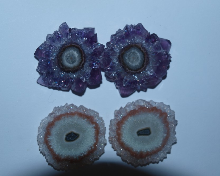 Stones from Uruguay - Amethyst Stalactite Pair for Earrings