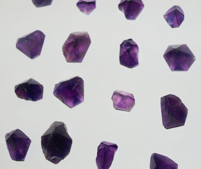 Stones from Uruguay - Natural Amethyst Point Pyramid